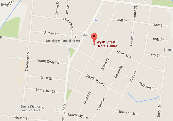 Wyatt Street Dental Centre location google map